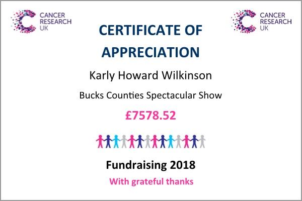 Certificate - bucks show